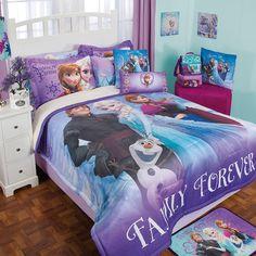 Coordinado de Edreborrega Frozen #Recamara #Edredon #Niñas #Hogar #IntimaHogar  #Frozen #Decoracion