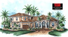 Spanish great room house plan features 3 bedrooms, 3 baths and 2 car garage. Visit our website for more details.