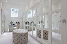 ** beautiful closet dressing room - add mirrors to standing wardrobe