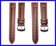 19mm 20mm Wenger Brown Leather Watch Band Strap Brown Leather Strap Watch, Leather Watch Bands, Urban Chic, My Boyfriend, Belt, Watches, Stylish, Accessories, Fashion