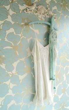 Wallpaper - great for a small space or lining the back of an armoir