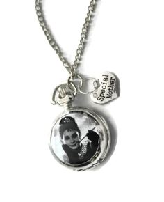 Audrey Hepburn silver charm pocket watch necklace pendant for A SPECIAL MOTHER