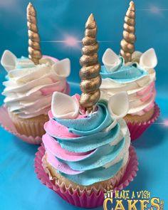 Birthday Candles, Birthday Cake, Unicorn Cupcakes, Desserts, Food, Tailgate Desserts, Deserts, Birthday Cakes, Essen
