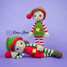 Jingle and Belle Santa's Helper Amigurumi  PDF Crochet