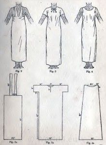 Egyptian Dress, Tunic fancy dress pattern