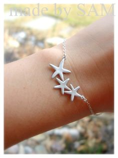 Starfish.... one for Jack, Nora and I.... starfish are the symbol of healing.  Hence, they are alllllll over my house and jewelry box!