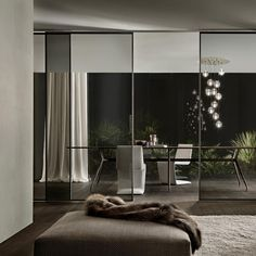 Shop the Velaria Sliding Doors and more contemporary furniture designs by Rimadesio at Haute Living Interior Simple, Luxury Interior Design, Modern Interior, Interior Architecture, Interior And Exterior, Interior Door, Modern Luxury, Sliding Door Systems, Sliding Doors