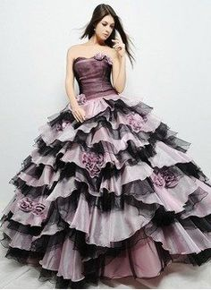 Ball-Gown One-Shoulder Floor-Length Organza Charmeuse Quinceanera Dress With Ruffle - Alternative Measures