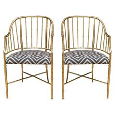 Mastercraft Brass Chairs