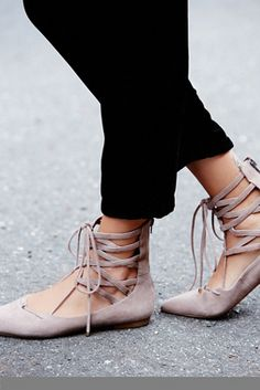 Love these lace up flats