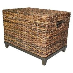 Wicker Large Storage Trunk - Dark Global Brown - Threshold™