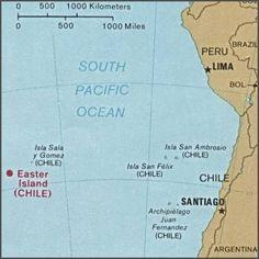 Easter Island, Salas y Gómez Islands, South America and the islands in between