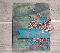 For the Love of Paper: copper thanks; Ellen Hutson Pin-Sights Challenge