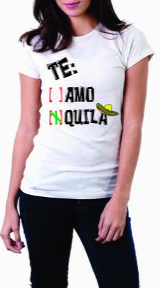 Baby look 100% poliéster, te amo tequila, tamanhos P, M, G, e GG.  Peça já a sua!  Whatsapp: 15 9 81600601 R$ 30,00