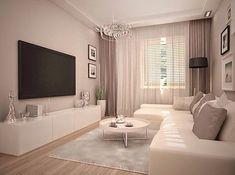 móvel abaixo da televisão Small Living Rooms, Living Room Modern, Home Living Room, Living Room Designs, Living Room Decor, Beautiful Images, Front Rooms, Drawing Room, Lofts