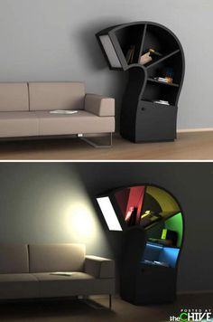 Bookcase/reading lamp!