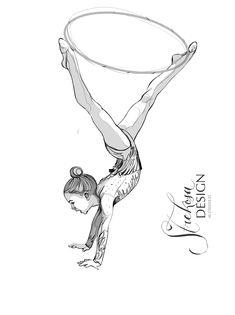 Strekosa Design - rhythmic gymnastics art // Sport illustration by strekosadesign leotard купальник гимнастика акварель рисунок вдохновение inspiration art sports gymnastics ballet sketch drawing watercolor искусство eventdesign детские соревнования детский спорт спорт design