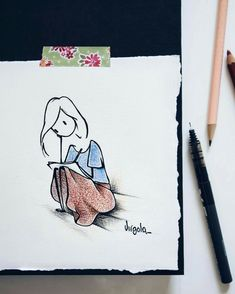 Image may contain: drawing Little Doll, Cute Art, Flower Art, Pretty Girls, Virginia, Art Drawings, Projects To Try, Doodles, Kawaii