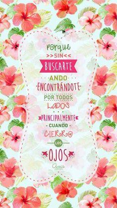 Las palabras describen todo a la perfección solo puedo ser feliz con todas estas palabras que tocan el corazón!!!! Inspirational Quotes Pictures, Love Quotes, Famous Phrases, Little Bit Of Love, Fabulous Quotes, Mr Wonderful, Frases Tumblr, Love Can, Spanish Quotes