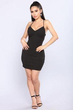 Elaina Mini Dress - Black
