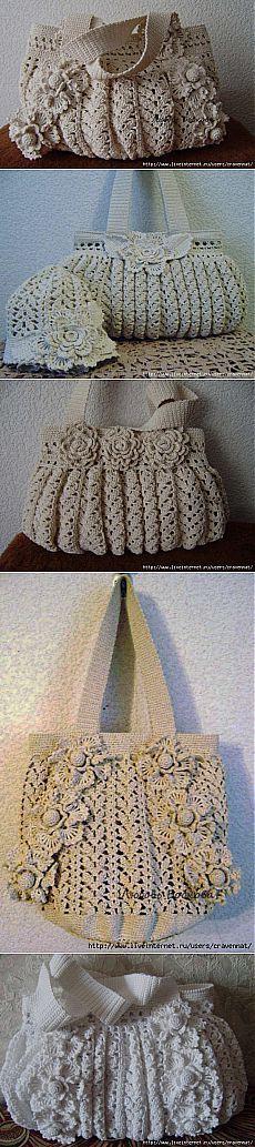 "Красивые сумки крючком. [   ""No pattern - spam pubblicità"" ] #<br/> # #Crocheted #Purses,<br/> # #Crochet #Handbags,<br/> # #Crochet #Accessories,<br/> # #Crochet #Patterns,<br/> # #Bow #Pillows,<br/> # #Crocheting,<br/> # #Crochet,<br/> # #Shawl,<br/> # #Fantasy<br/>"