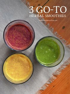 3 Go-To Herbal Smoothies - Herbal Academy of New England