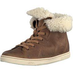 Der cognacfarbene gefütterte Sneaker für Damen der Marke UGG Australia hält Ihre Füße an kalten Wintertagen warm! Zu finden ist der Schuh im Online Shop auf www.schuhe.de