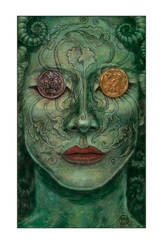 5.5 x 8.5  The 2 of Disks Tarot Print  Maryel by MarieWhiteArt, $9.00