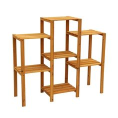 Bring some natural beauty into your outdoor living space with this seven-tier plant stand. Crafted from beautiful cypress wood, this brown plant stand is designed to resist decay and provide you with years of durable and beautiful use. Outdoor Plants, Outdoor Decor, Indoor Outdoor, Outdoor Living, Plants Indoor, Potted Plants, Silk Plants, Carnivorous Plants, Outdoor Ideas