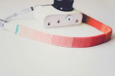 Ombre crochet camera strap coral closeups by Lisa   goodknits, via Flickr