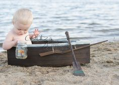 Gone Fishin'.  Child Photography, boat photography prop