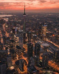 Ideas for urban landscape art cities Toronto Skyline, Toronto City, Downtown Toronto, Fantasy Landscape, Urban Landscape, Landscape Art, City Photography, Landscape Photography, Torre Cn