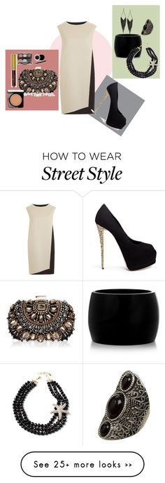 """Untitled #1788"" by celeta-mccall on Polyvore featuring PINGHE, Giuseppe Zanotti, GUESS, Alexander McQueen, Amrita Singh, Lipsy, Mary Kay and Lancôme"