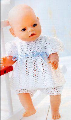 05-Zachte zomer fri… Crochet Doll Clothes, Knitted Dolls, Doll Clothes Patterns, Crochet Dolls, Doll Patterns, Crochet Baby, Baby Born Clothes, Pet Clothes, Barbie Knitting Patterns
