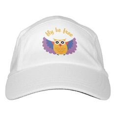 Owl fly be free headsweats hat - animal gift ideas animals and pets diy customize