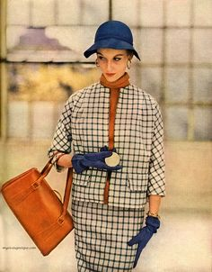 Mary Jane Russell for the Simplicity Spring Pattern Book, 1953. Photo by Lillian Bassman.