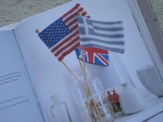 Can get this knitted flag pattern from the library in the book: the knitter's year