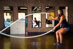 I love using #battleropes in my workouts!  They are great for #arms and #core strength!  For more recommendations, visit http://bethalexanderfitness.com  #bethalexanderfitness #workout #fitness #strength #fit #sweat