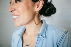 Wooden Loop Earrings   The Magnolia Market   Joanna Gaines