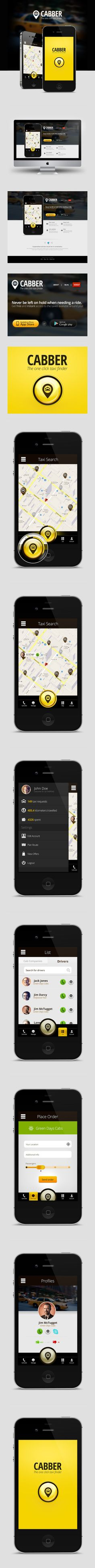 Cabber App by Ursuleanu Daniel, via Behance