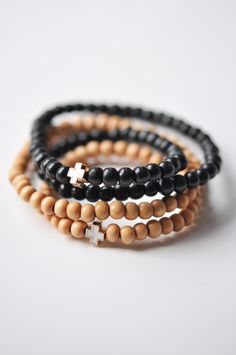 Image of BRRYBNDS + NiCo :: Double Wrap Bracelet with Pendant