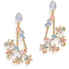 Rental Erickson Beamon Spring Twig Earrings ($60) ❤ liked on Polyvore featuring jewelry, earrings, accessories, erickson beamon, swarovski crystal earrings, post earrings, long earrings and earrings jewelry