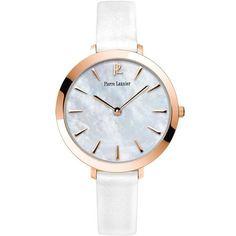 92b5887e8cb82 Montre femme Pierre Lannier cuir blanc. Son cadran nacré est sublimement  mis en valeur avec sa boite rosegold... une montre femme magnifique, ...