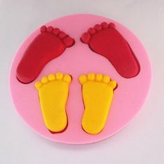 100*10mm Footed Shape Fondant Molds Acessorios De Cozinha Silicone Mould For Soap Party Decoration - Mould Magics