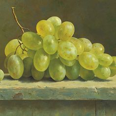 Green grapes | Giclée's