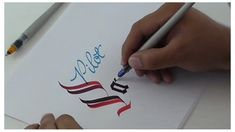 Parallel Pens Do You Love Calligraphy?Do You Love Calligraphy? Calligraphy Video, Calligraphy Drawing, Calligraphy Handwriting, Learn Calligraphy, Calligraphy Alphabet, Penmanship, Modern Calligraphy, Creative Lettering, Brush Lettering