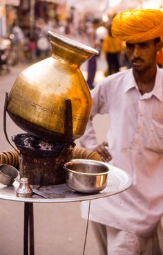 The traditional India tea, locally called chai! It is a mix of the black tea, masala, cardamon, cinamon and milk! http://www.anitaholidays.com/hotel-booking.php