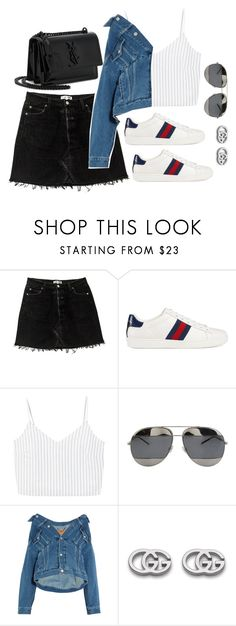 """Untitled #4137"" by magsmccray ❤ liked on Polyvore featuring Gucci, MANGO, Christian Dior, Balenciaga and Yves Saint Laurent"
