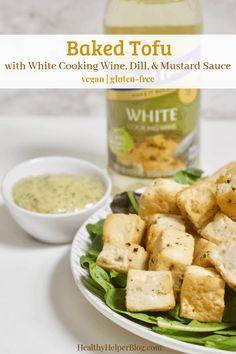 Perfectly baked tofu pairs creamy, tangy sauce for a delicious plant-based main dish! A great addition to a holiday menu or for an easy meatless meal. Cooking With White Wine, Cooking Wine, Vegetarian Recipes, Healthy Recipes, Free Recipes, Baked Tofu, Vegan Gluten Free, Main Dishes, Dinner Recipes