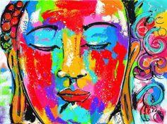 Schilderijen veiling - Liz - Veel kleuren Buddha